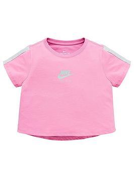 Nike Nike Sportswear Air Older Girls Cropped T-Shirt - Pink Picture