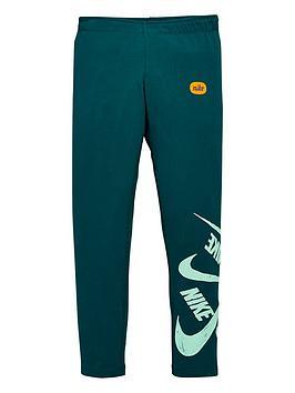 Nike Nike Sportswear Older Girls Marker Leggings - Teal Picture