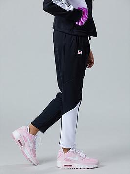 Nike Nike Sportswear Older Girls Heritage Track Pants - Black/White Picture