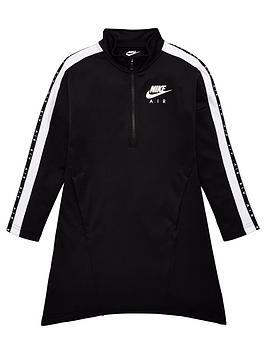 Nike Nike Sportswear Air Older Girls 1/2 Zip Dress - Black Picture