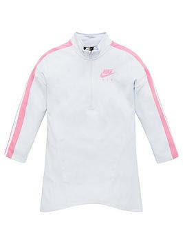 Nike Nike Sportswear Air Older Girls 1/2 Zip Dress - Off White Picture
