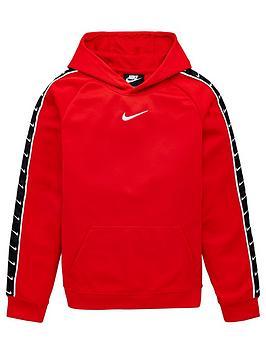 Nike Nike Sportswear Older Boys Swoosh Tape Hoodie - Red Picture