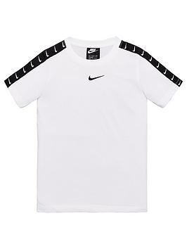 Nike Nike Sportswear Older Boys Swoosh Tape T-Shirt - White Picture