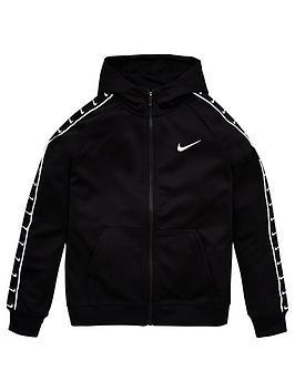 Nike Nike Sportswear Older Boys Swoosh Tape Hoodie - Black Picture