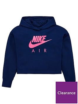 nike-sportswear-air-older-girls-overhead-cropped-hoodie-navy