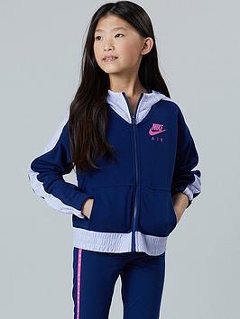 Nike Nike Sportswear Air Older Girls Full Zip Hoodie - Blue/White Picture