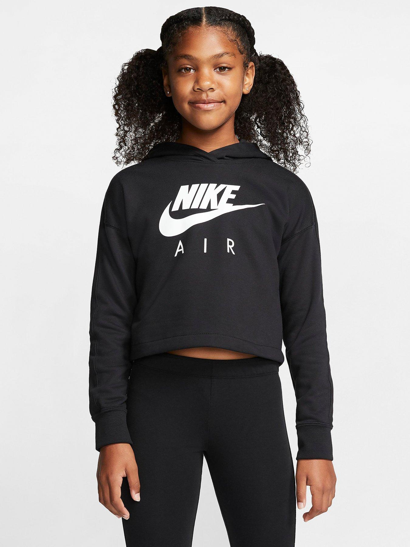 Air cotton mix cropped hoodie, 6 16