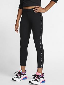 Nike Nike Sportswear Air Older Girls Leggings - Black Picture