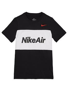 Nike Nike Sportswear Air Older Boys T-Shirt - Black/White Picture