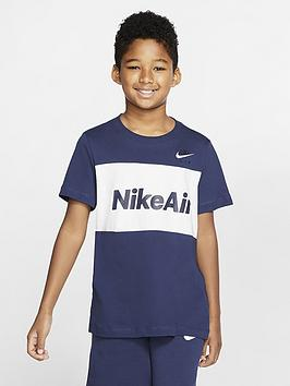 Nike Nike Sportswear Air Older Boys T-Shirt - Navy/White Picture