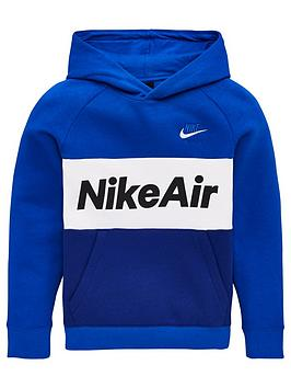 Nike Nike Sportswear Air Older Boys Overhead Hoodie - Royal Blue Picture