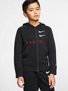 Nike Nike Nsw Older Boys Swoosh Full Zip Hoodie - Black Picture