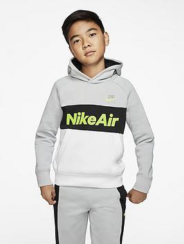 Nike Nike Sportswear Air Older Boys Overhead Hoodie - Grey Picture