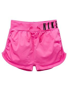 nike-older-girls-seamless-training-shorts-pink