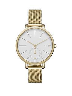 skagen-skagen-white-dial-gold-stainless-steel-mesh-strap-ladies-watch