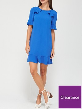 v-by-very-ruffle-detail-tunic-dress-cobalt