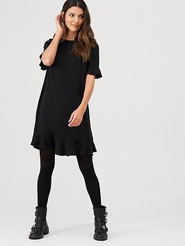 V by Very V By Very Ruffle Detail Formal Tunic Dress - Black Picture