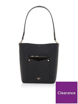 dune-london-dorgie-pocket-front-bucket-bag-black