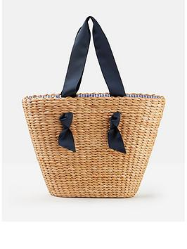 Joules  Albury Woven Straw Shopper Bag - Natural