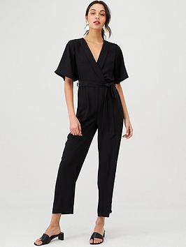 V by Very V By Very Wrap Casual Jumpsuit - Black Picture