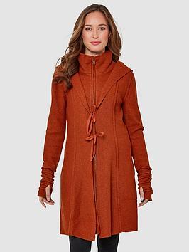 Joe Browns Joe Browns Vibrant Boiled Wool Blend Jacket - Burnt Orange Picture