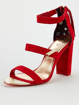 Ted Baker Ted Baker Alinra Triple Strap Heeled Sandal - Red Picture