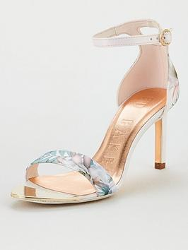 Ted Baker Ted Baker Mwilli Woodland Strappy Heels - Pale Pink Picture