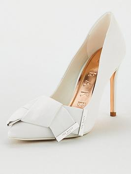 Ted Baker Ted Baker Linesi Satin Bow Detail Court - Ivory Picture