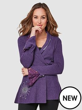 joe-browns-fluted-sleeve-knit-purple