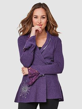Joe Browns Joe Browns Fluted Sleeve Knit - Purple Picture