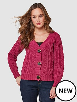 joe-browns-cable-knit-cardigan-magenta