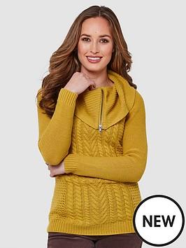 joe-browns-quirky-collared-knit-mustard