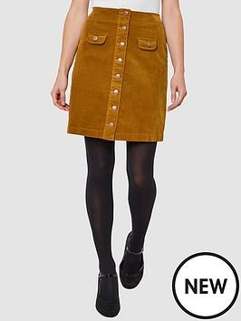 joe-browns-button-through-cord-skirt-mustard