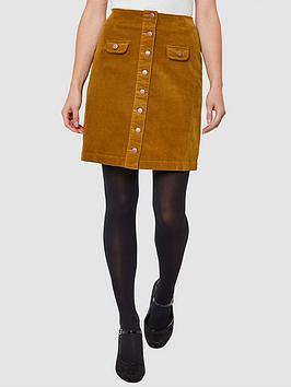 Joe Browns Joe Browns Button Through Cord Skirt - Mustard Picture