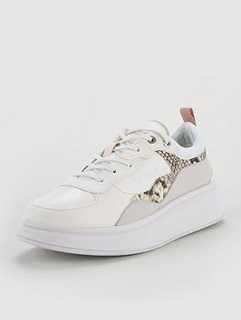 Ted Baker Ted Baker Arellis Exotic Trim Trainer - White Picture