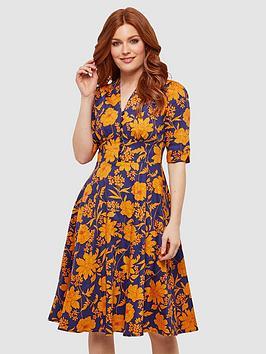 Joe Browns Joe Browns Golden Florals Dress - Print Picture