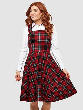 Joe Browns Joe Browns Pretty Pinafore Dress - Red/Black Picture