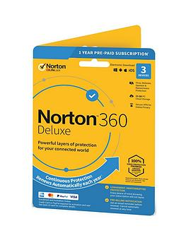 Norton    360 Deluxe 25Gb In 1 User 3 Device 12Mo Std Ret Enr Card Dvdslv