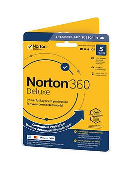 Norton    360 Deluxe 50Gb In 1 User 5 Device 12Mo Std Ret Enr Card Dvdslv