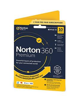 Norton    360 Premium 75Gb In 1 User 10 Device 12Mo Std Ret Enr Dvdslv