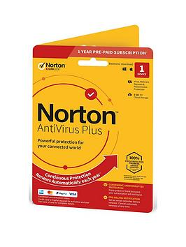 Norton    Antivirus Plus 2Gb In 1 User 1 Device 12Mo Std Ret Enr Card Dvdslv