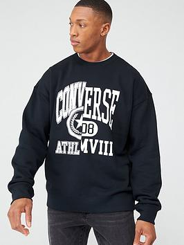 Converse Converse Twisted Varsity Crew - Black Picture