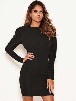 AX Paris Ax Paris Puff Sleeved Bodycon Dress - Black Picture