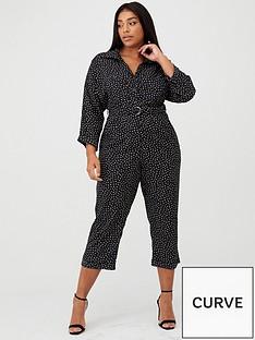 ax-paris-curve-spotted-jumpsuit-blackwhite