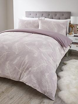 Very Feather Jacquard Duvet Set - Sk Picture