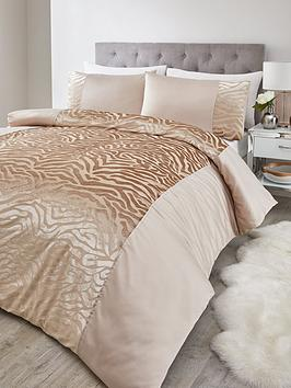 Very Zebra Luxe Velvet Duvet Set - Db Picture