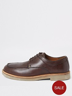 river-island-dark-brown-leather-lace-up-shoes