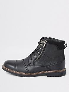 river-island-black-double-zip-lace-up-military-boots