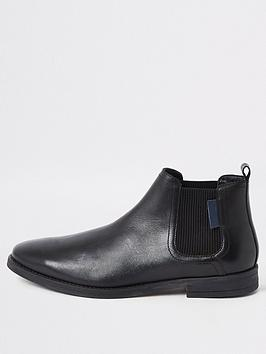river-island-black-leather-pointed-toe-chelsea-boots