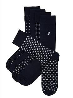 river-island-navy-spot-5-pack-socks